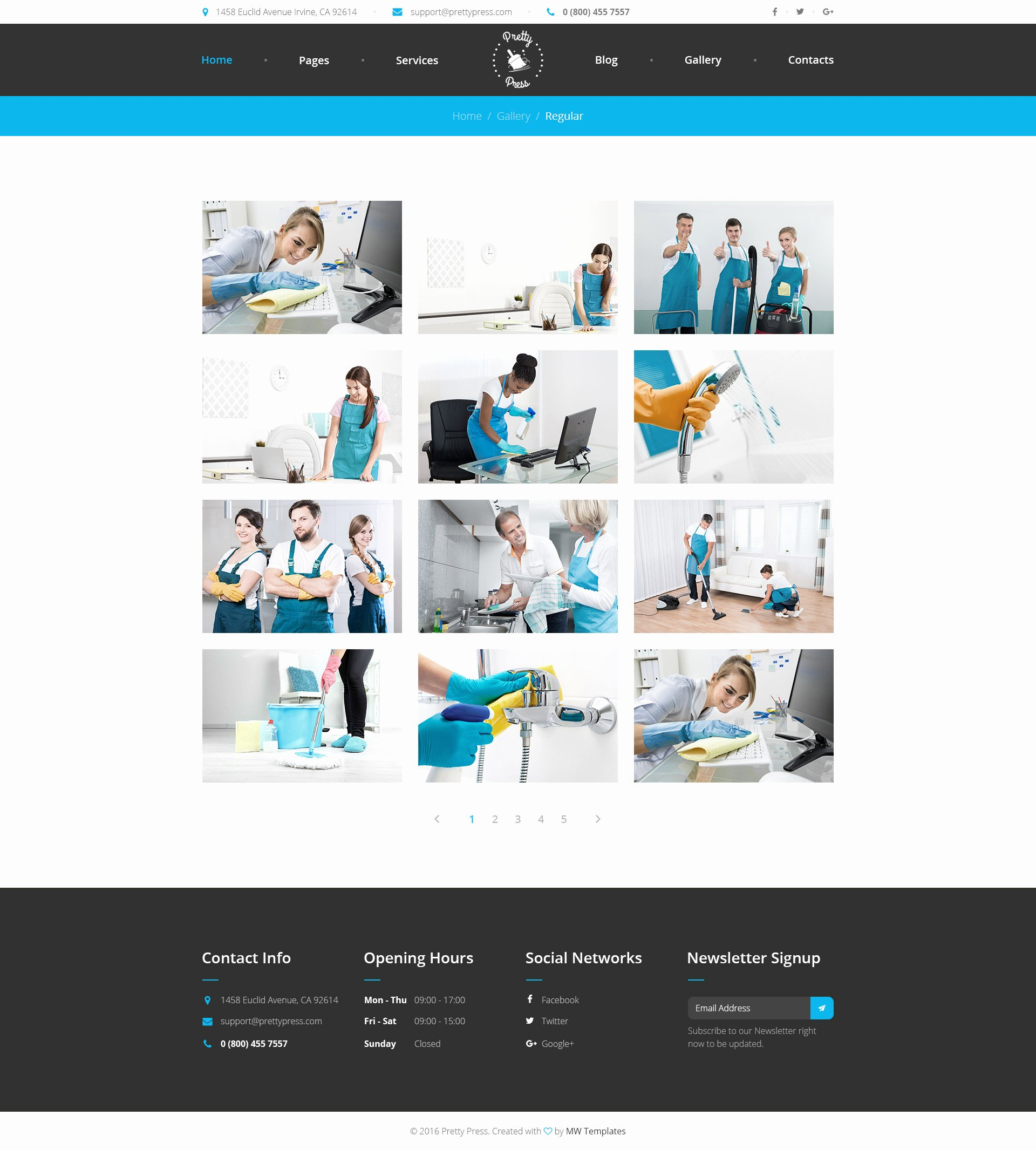 Cleaning Services Website Template Awesome Prettypress – Cleaning Service HTML Template