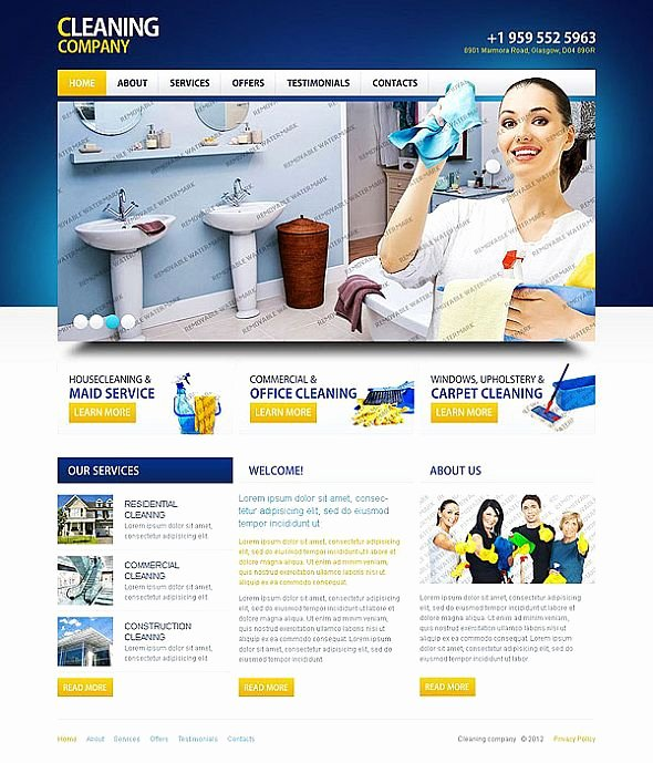Cleaning Services Website Template Best Of 10 attractive Services Website Templates tonytemplates Blog