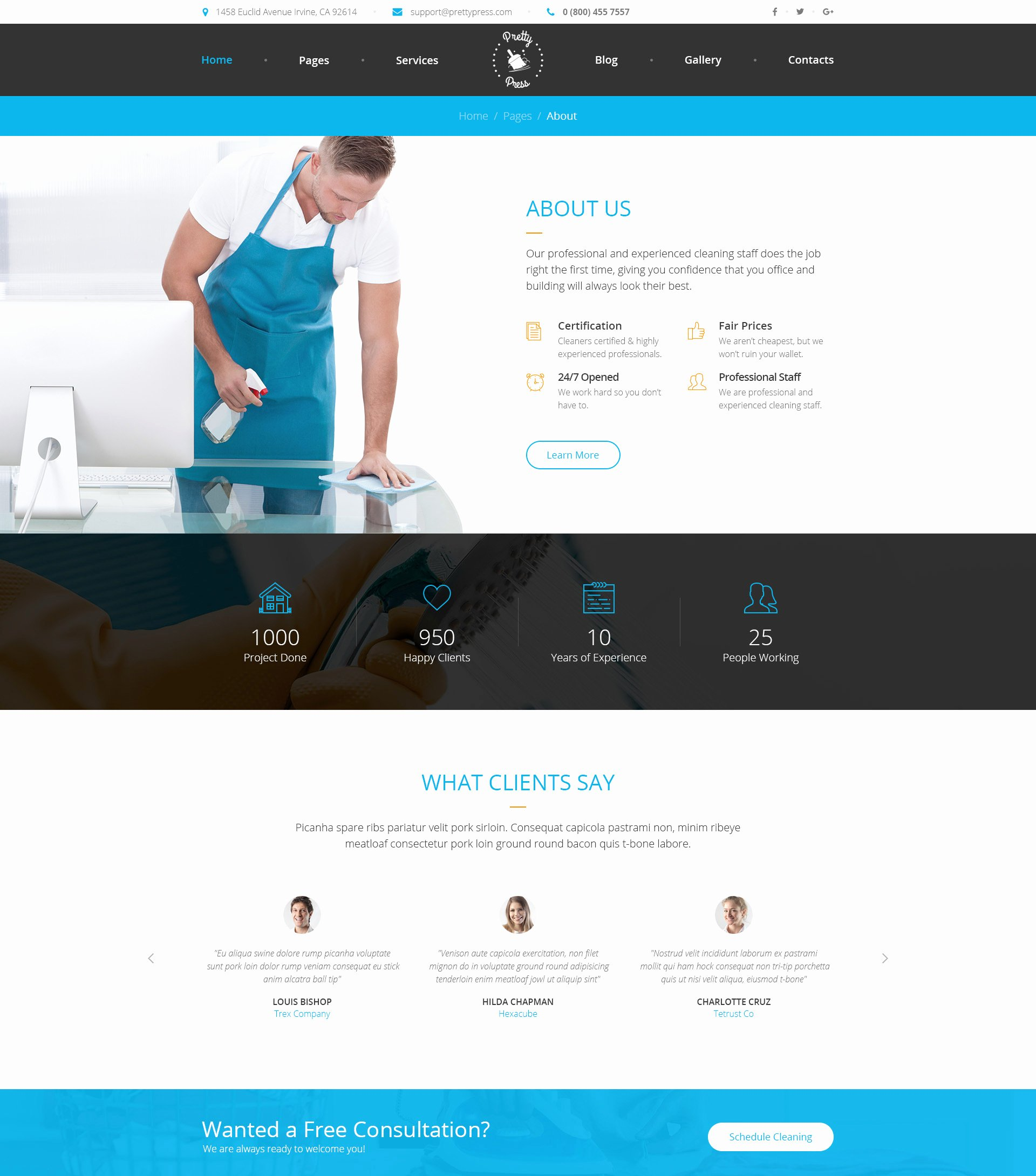 Cleaning Services Website Template Best Of Prettypress – Cleaning Service HTML Template