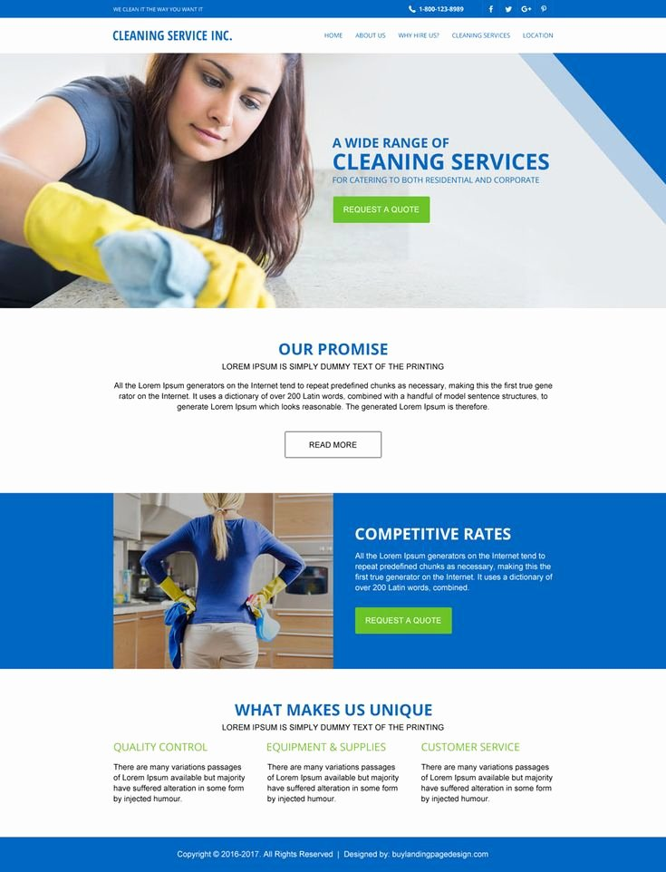 Cleaning Services Website Template Inspirational 75 Best Landing Page Design Inspiration Images On Pinterest
