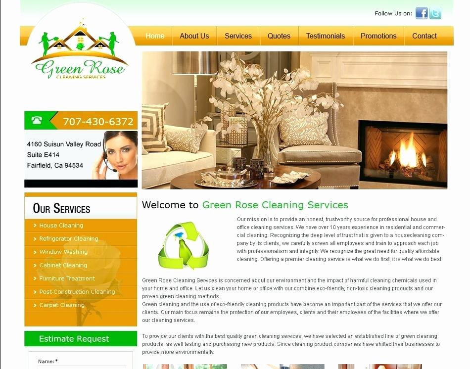 Cleaning Services Website Template Inspirational House Cleaning Website Template Cleaning Services Brochure