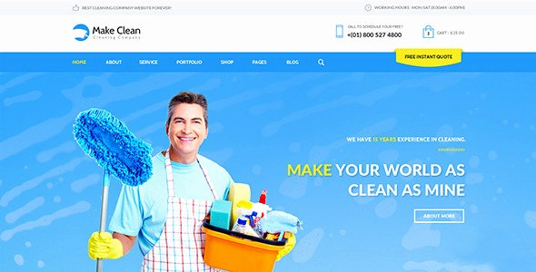 Cleaning Services Website Template Inspirational Make Clean Cleaning Pany Muse Template by Mejora