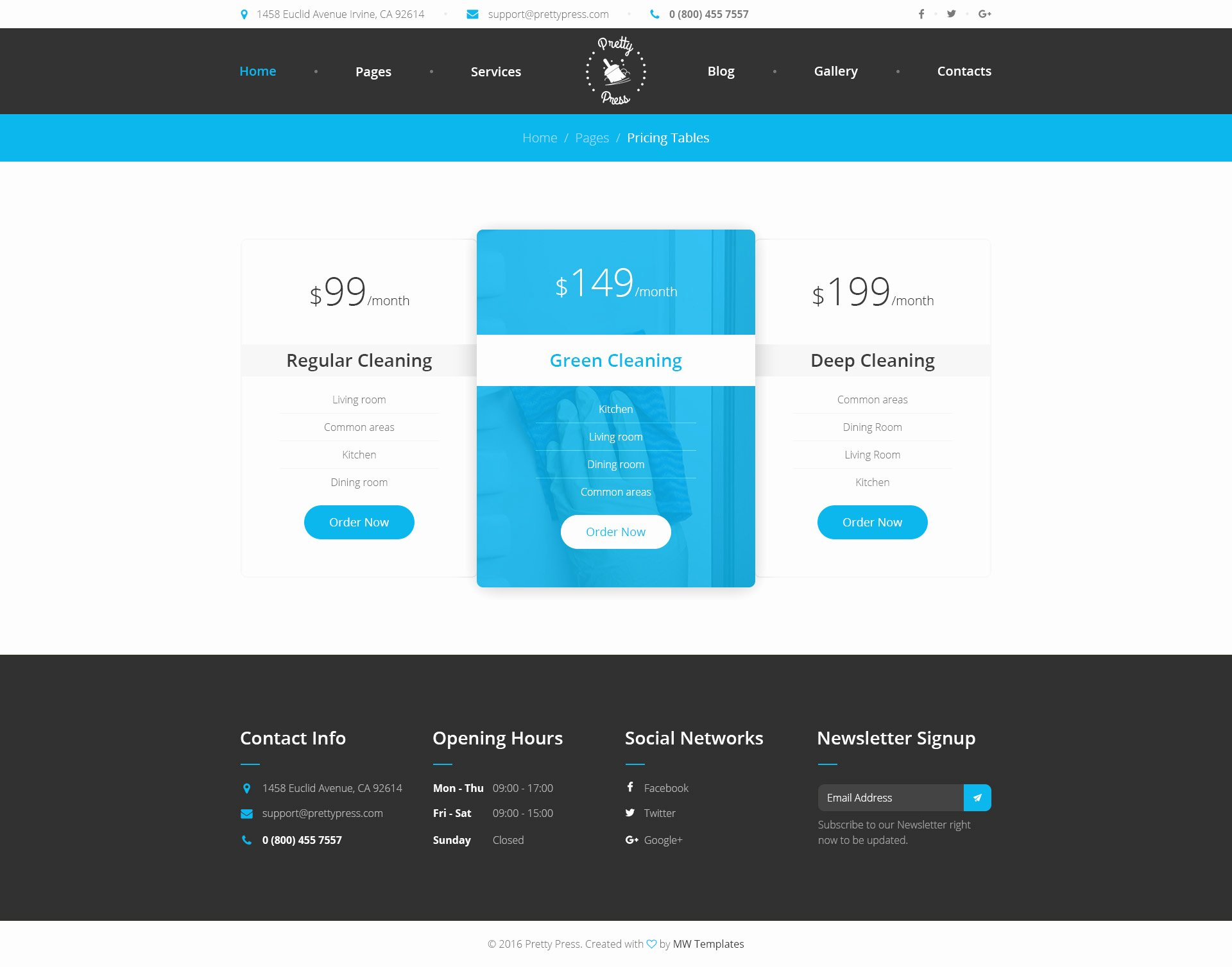 Cleaning Services Website Template Inspirational Prettypress – Cleaning Service HTML Template