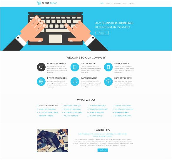 Cleaning Services Website Template Lovely 28 Puter Repair Website themes & Templates