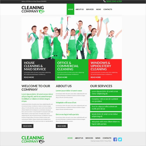 Cleaning Services Website Template New 46 Responsive Bootstrap themes & Templates