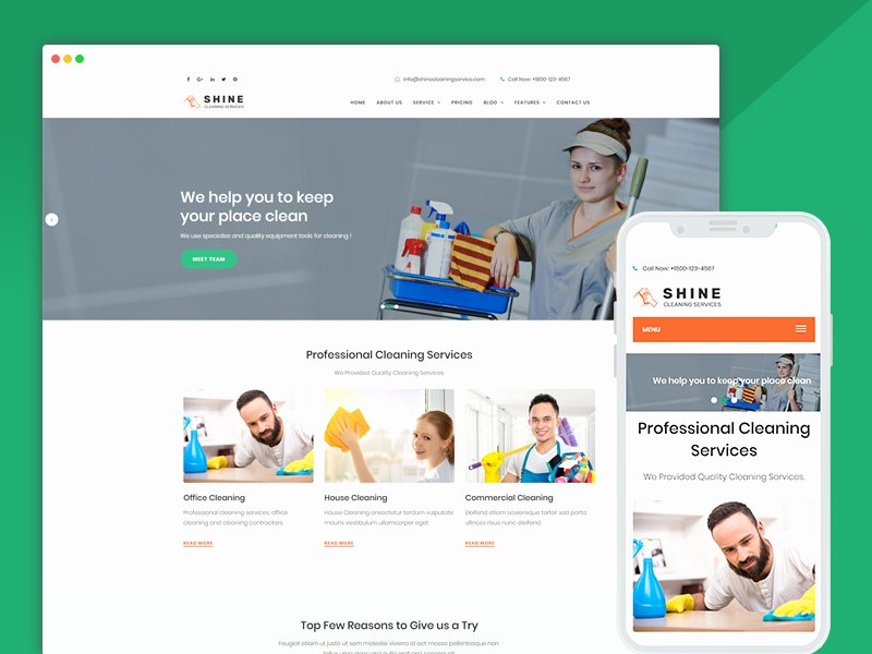 Cleaning Services Website Template New Best Bootstrap Responsive Web Design Templates 40