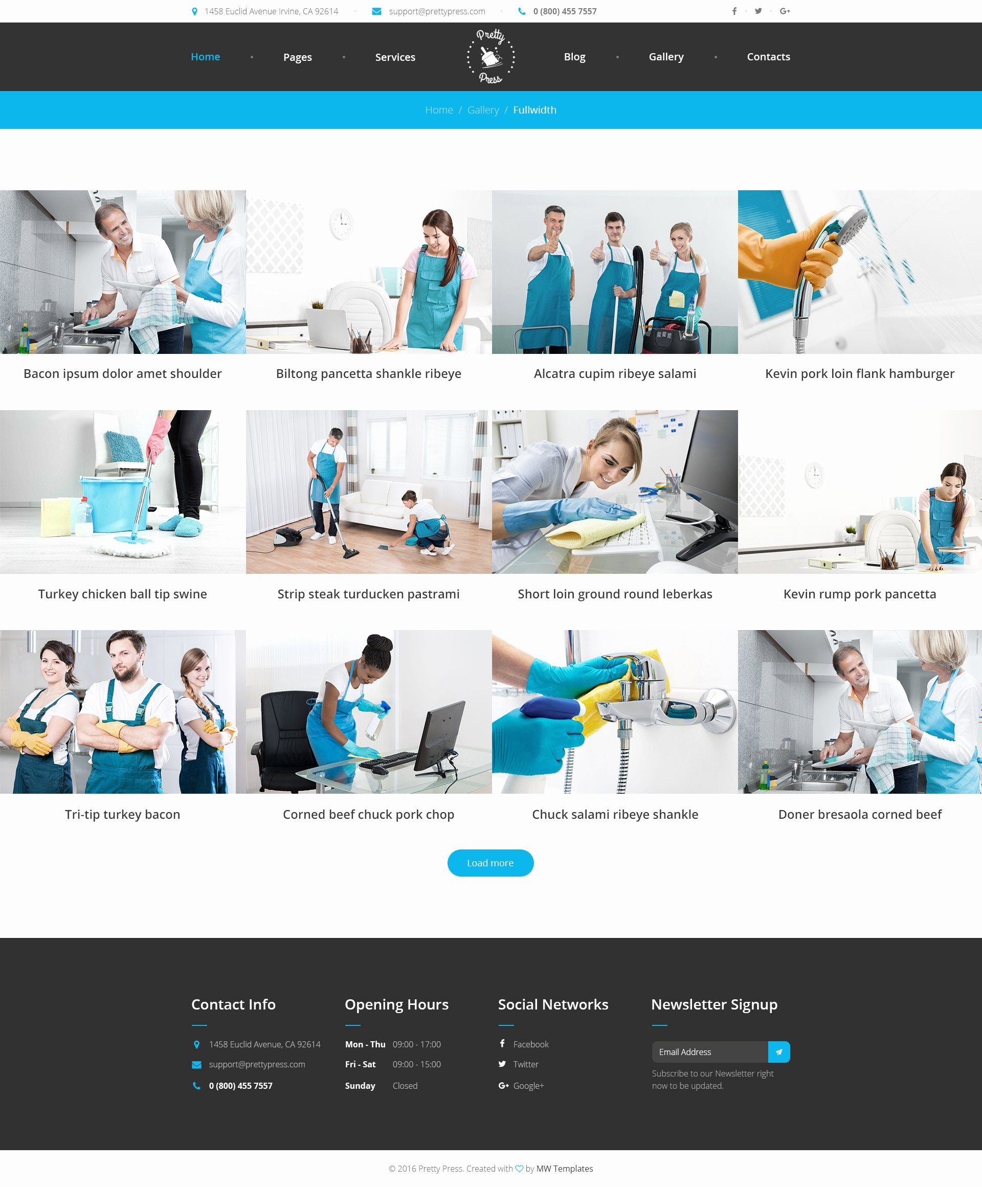 Cleaning Services Website Template New Prettypress – Cleaning Service HTML Template