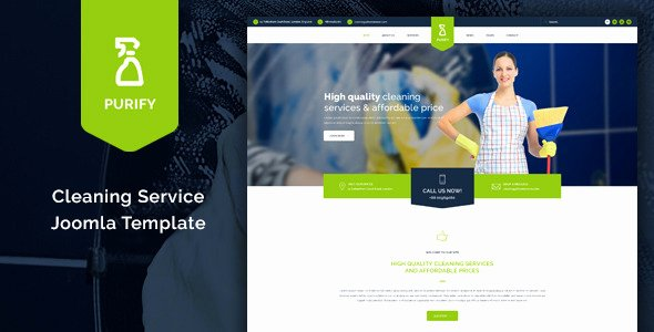 Cleaning Services Website Template New Purify Cleaning Service Joomla Template by Obtheme