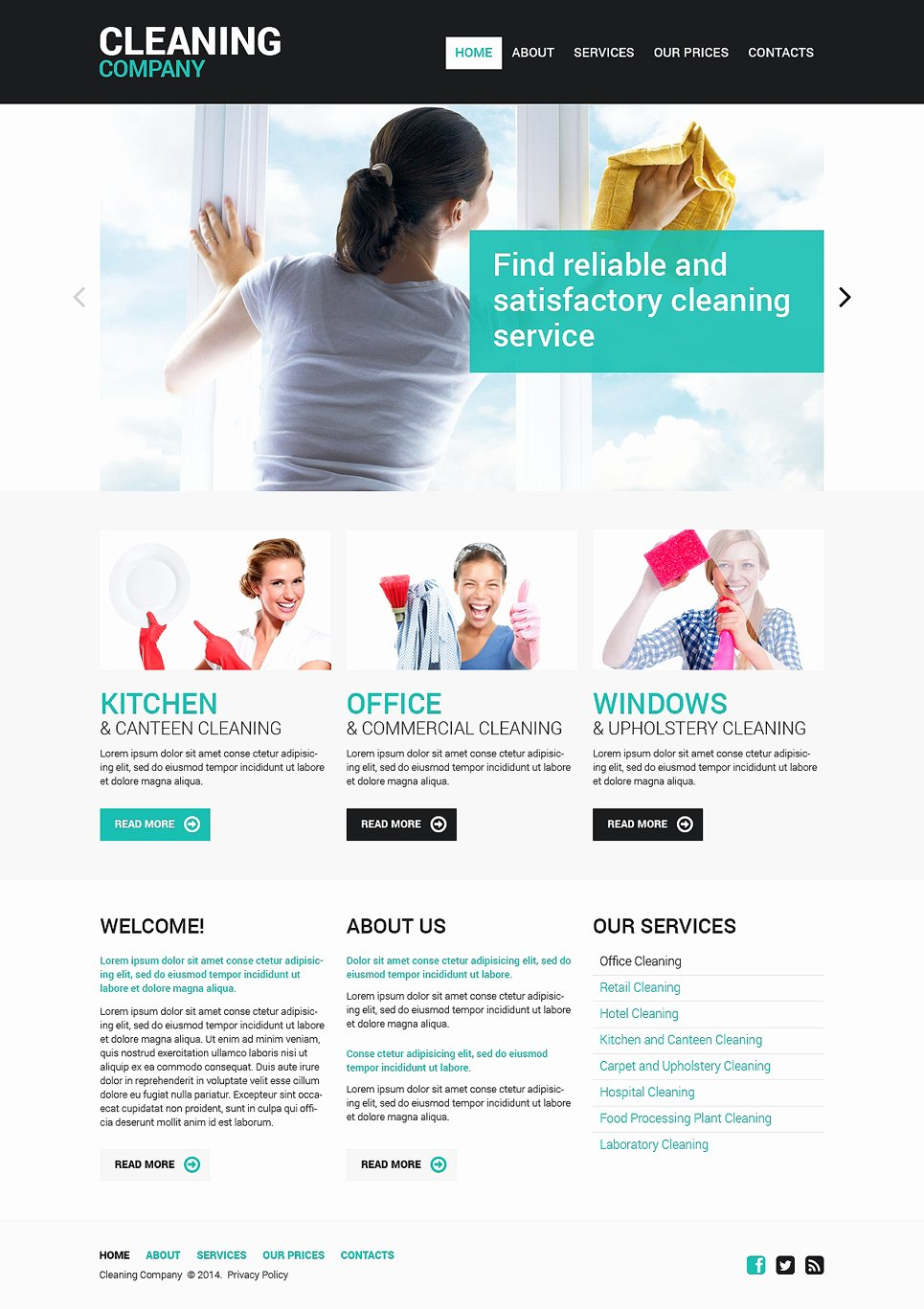 Cleaning Services Website Template Unique Cleaning Responsive Website Template