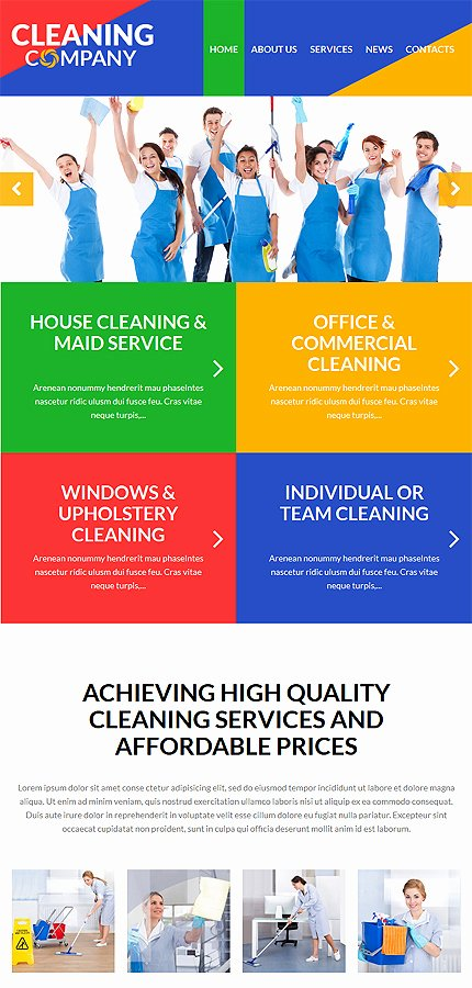Cleaning Services Website Template Unique Cleaning Services Wordpress theme