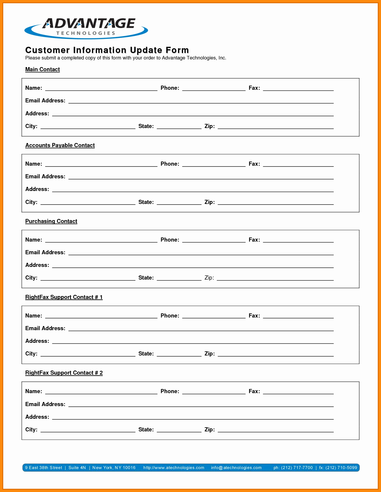 Client Information form Template Elegant Customer Information form Template Bamboodownunder