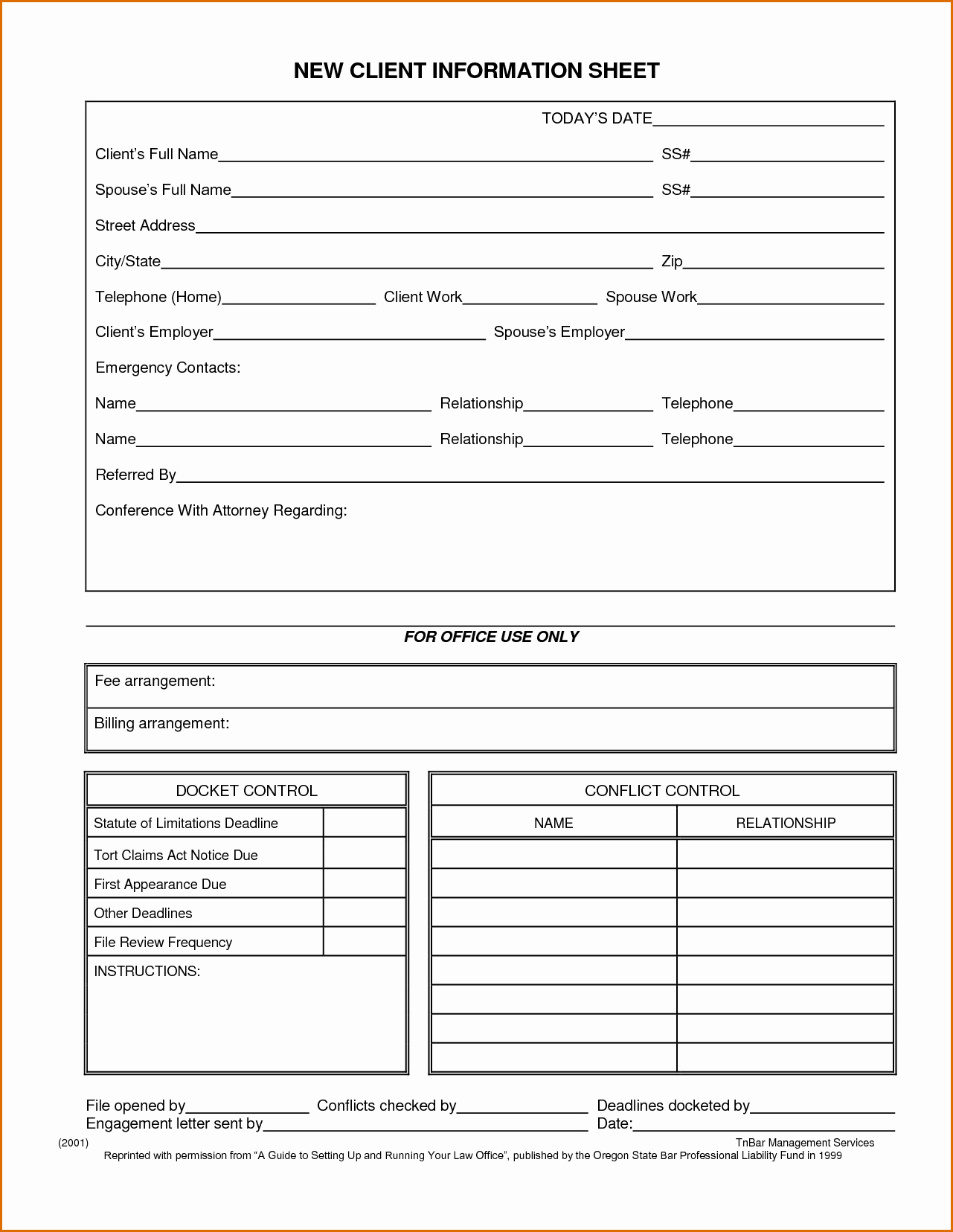 Client Information form Template New 10 Client Information Sheet Template