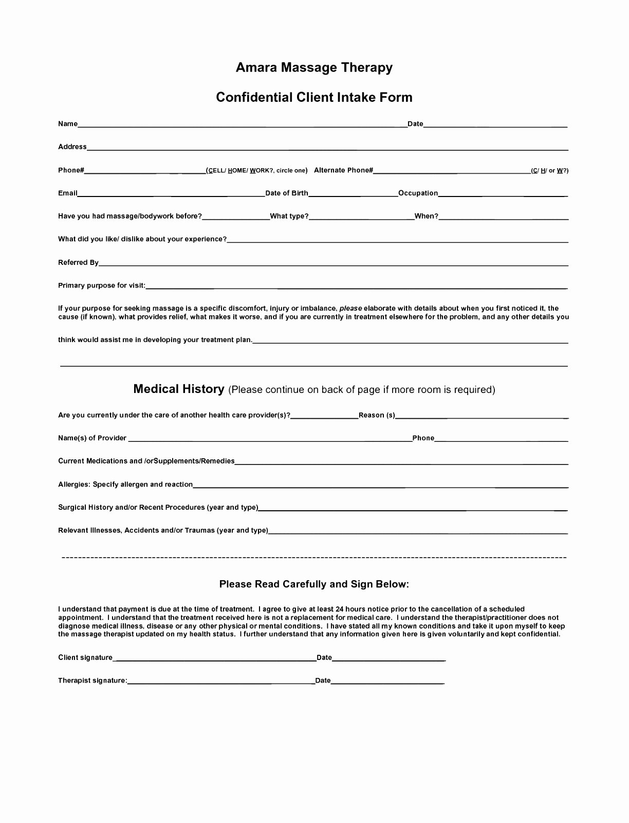 Client Intake form Template Fresh Client Intake forms Printable Client Intake form