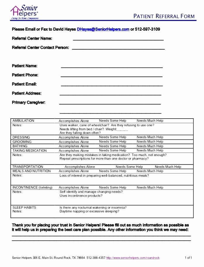 Client Referral form Template Best Of 12 Patient Referral form Template Utixy