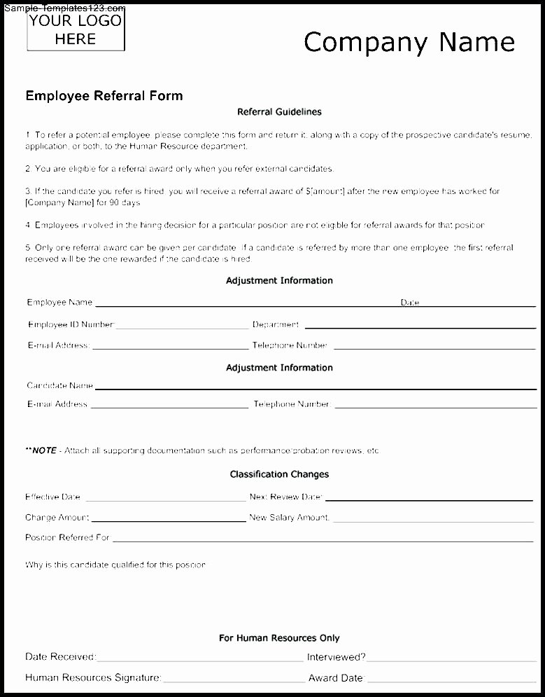 Client Referral form Template Lovely Customer Referral form Template – Versatolelive
