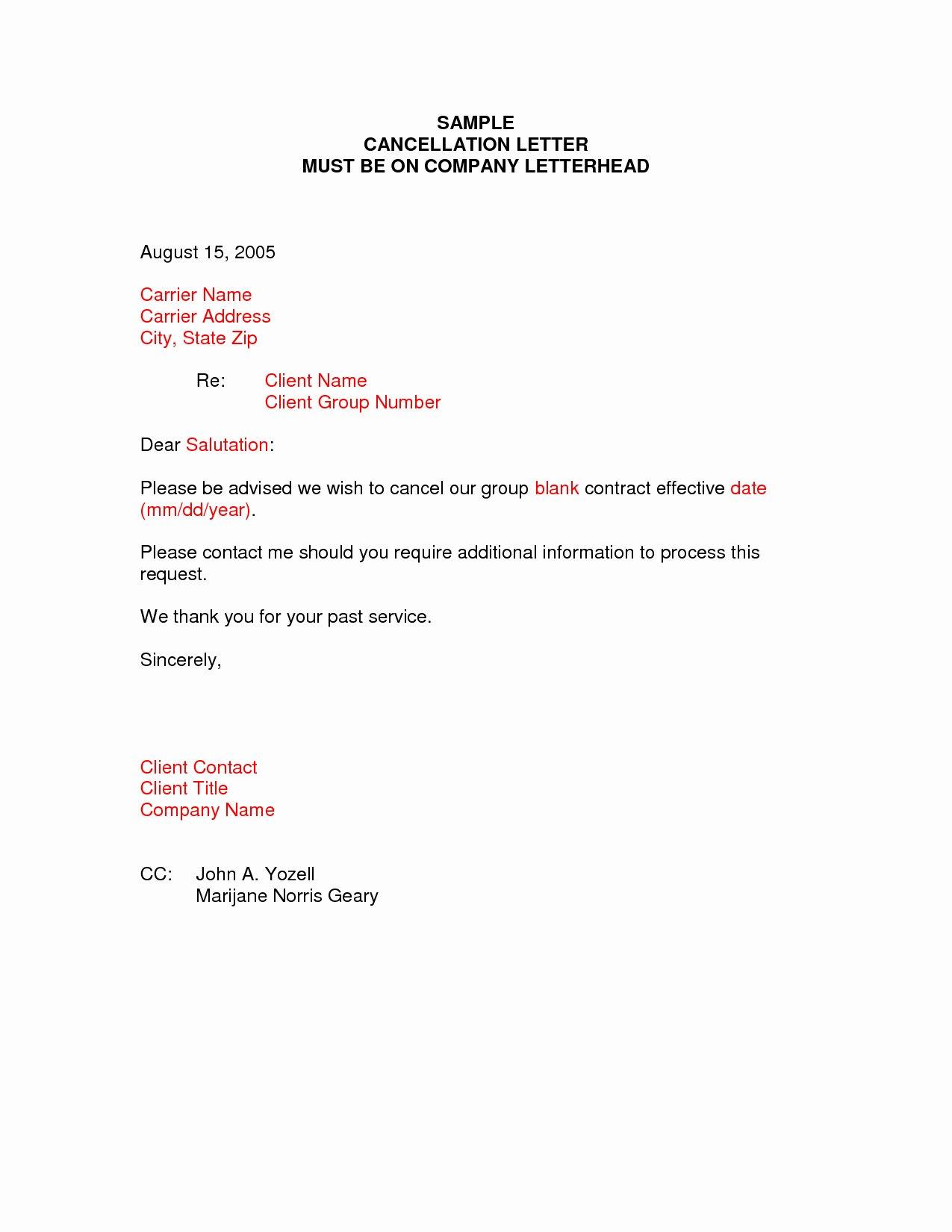 Client Termination Letter Template Unique Client Termination Letter Template Samples