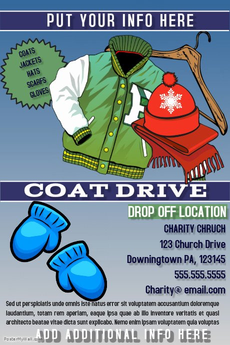 Clothing Drive Flyer Template Beautiful Coat Drive Template