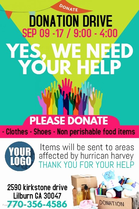 Clothing Drive Flyer Template Best Of Copy Of Donations