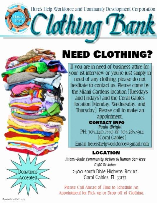 Clothing Drive Flyer Template Elegant Clothing Bank Flyer Template