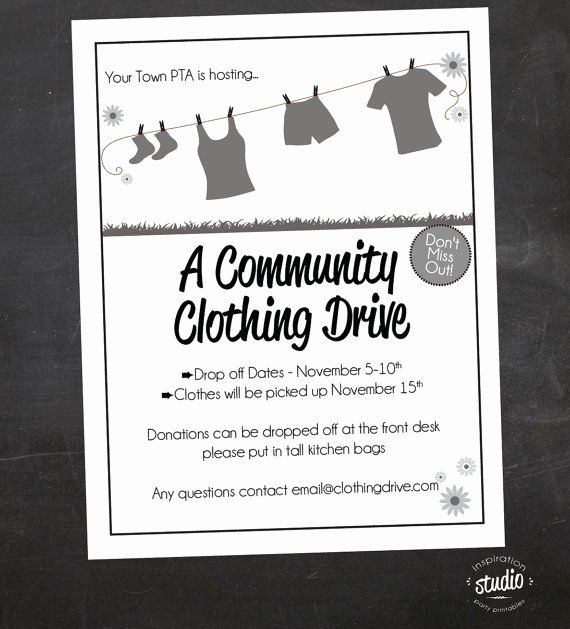 Clothing Drive Flyer Template Elegant Clothing Drive School Church or by Jjinspirationstudio On