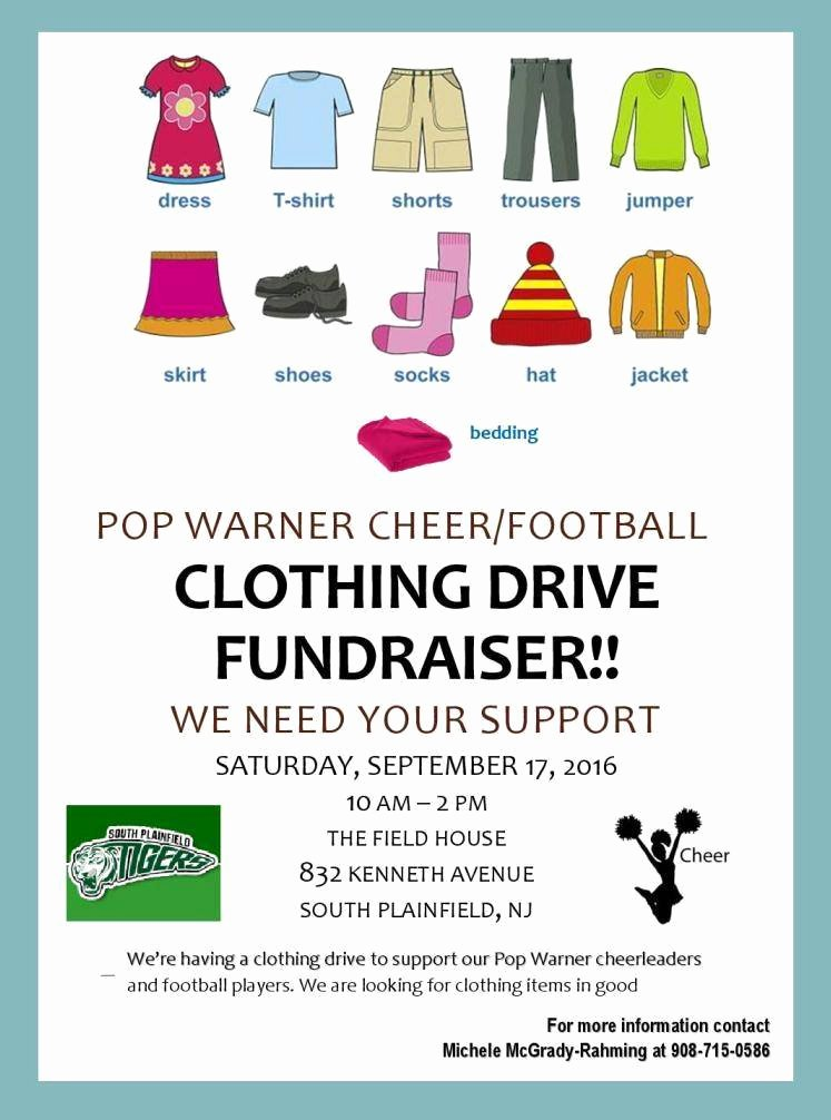 Clothing Drive Flyer Template Fresh Clothing Drive at Pop Warner Tapinto