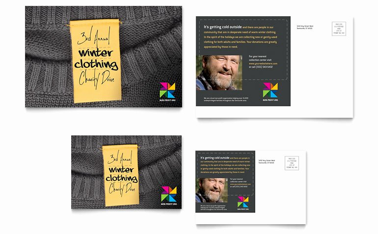 Clothing Drive Flyer Template Lovely Winter Clothing Drive Postcard Template Word & Publisher