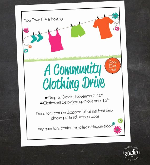 Clothing Drive Flyer Template Luxury 1000 Images About Clothes Drive On Pinterest