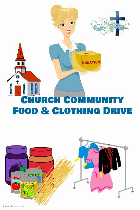 Clothing Drive Flyer Template Unique Church Food and Clothing Drive Template