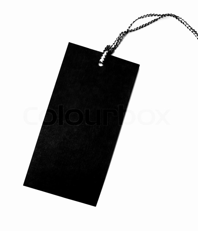 Clothing Hang Tag Template Lovely Clothing Hang Tag Blank Template Blank Tag Label isolated