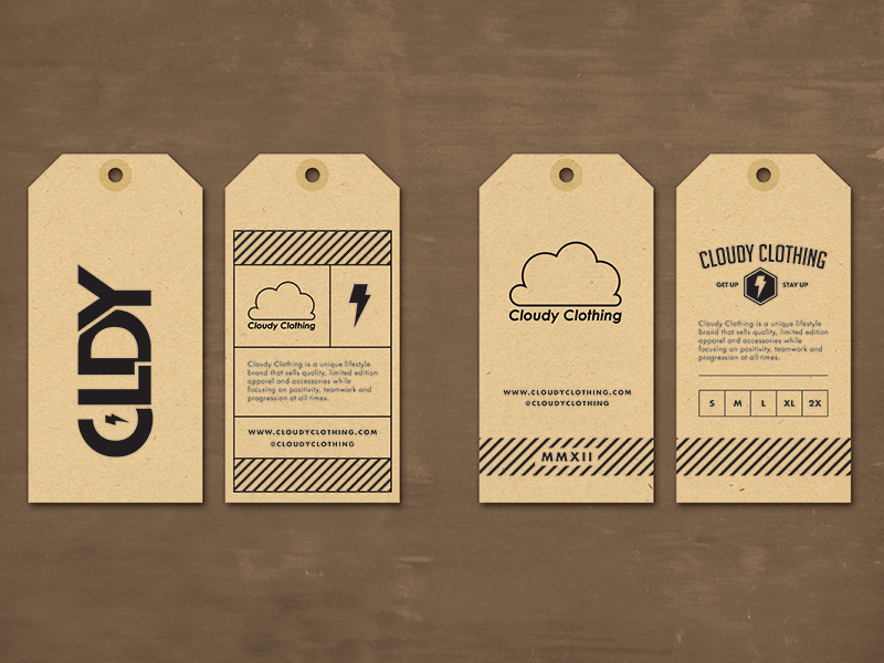 Clothing Hang Tag Template Unique Cloudy Clothing