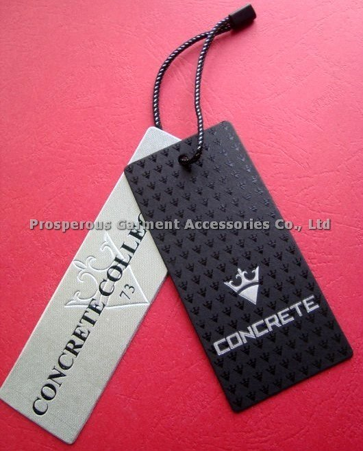 Clothing Hang Tag Template Unique Full Color Printed No Moq for All Kinds Of Hangtag Hang