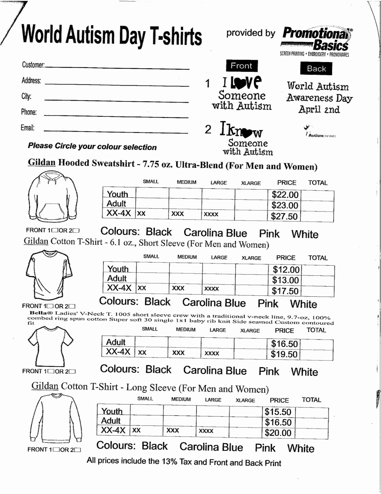 Clothing order form Template Awesome Spirit Wear form Pta Pinterest