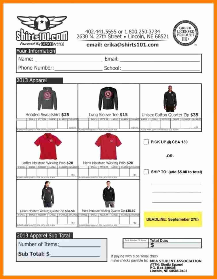 Clothing order form Template Beautiful 15 Clothing order forms Steamtraaleren Borgenes