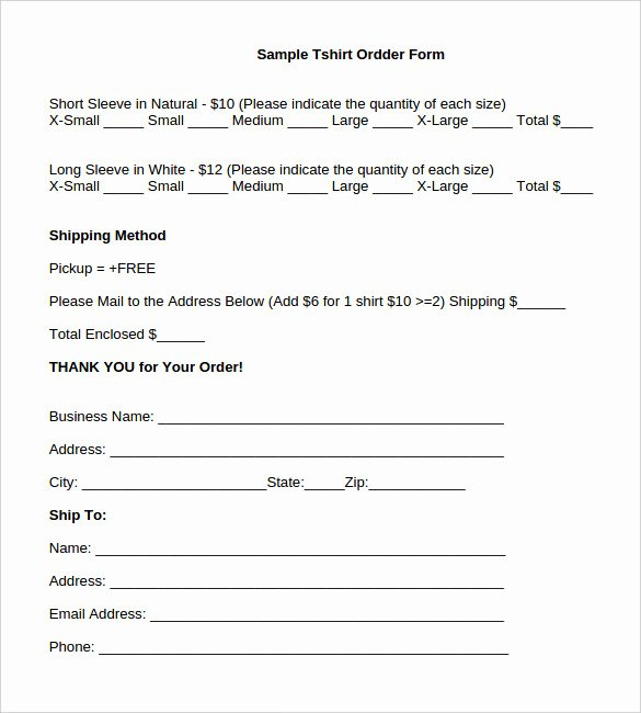 Clothing order form Template Inspirational 26 T Shirt order form Templates Pdf Doc