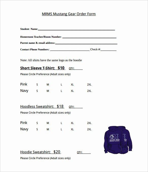 Clothing order form Template Lovely 26 T Shirt order form Templates Pdf Doc