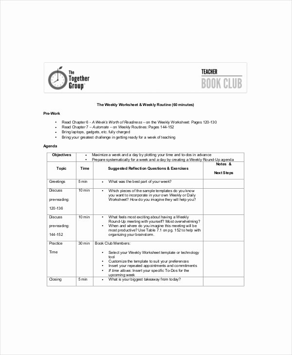 Club Meeting Minutes Template Best Of Club Meeting Agenda Template 7 Free Word Pdf Documents