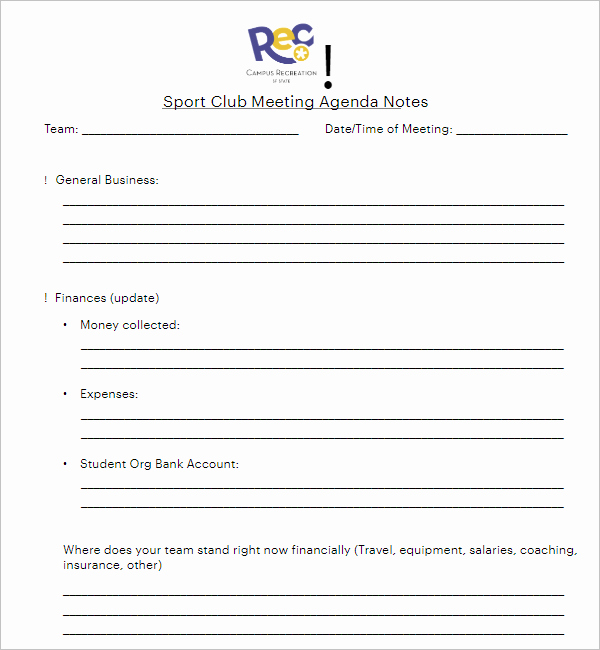 Club Meeting Minutes Template Inspirational 21 Club Meeting Minutes Templates Pdf Sample formats