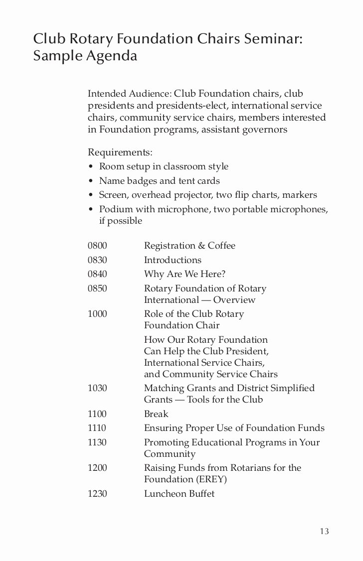 Club Meeting Minutes Template New Club Rotary Foundation Mittee Guide