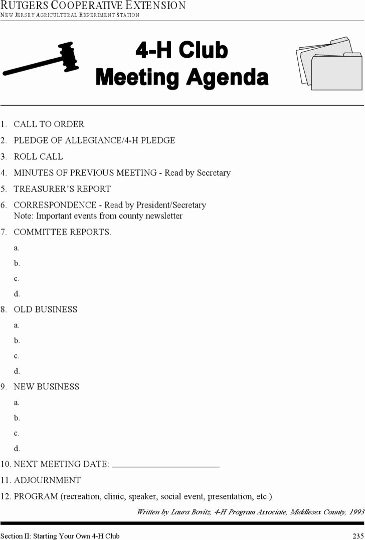 Club Meeting Minutes Template Unique Download Club Meeting Agenda Templates for Free