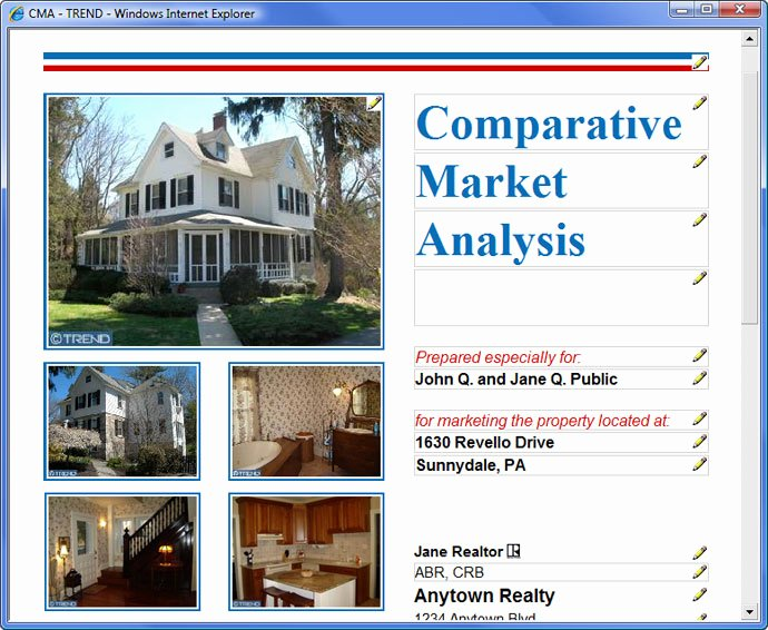Cma Real Estate Template Unique Customize Your Cma and Flyer Reports – Trend
