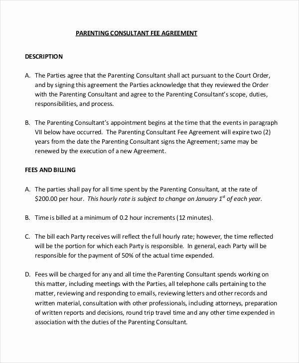 Co Parenting Agreement Template Best Of Parenting Agreement Templates 8 Free Pdf Documents