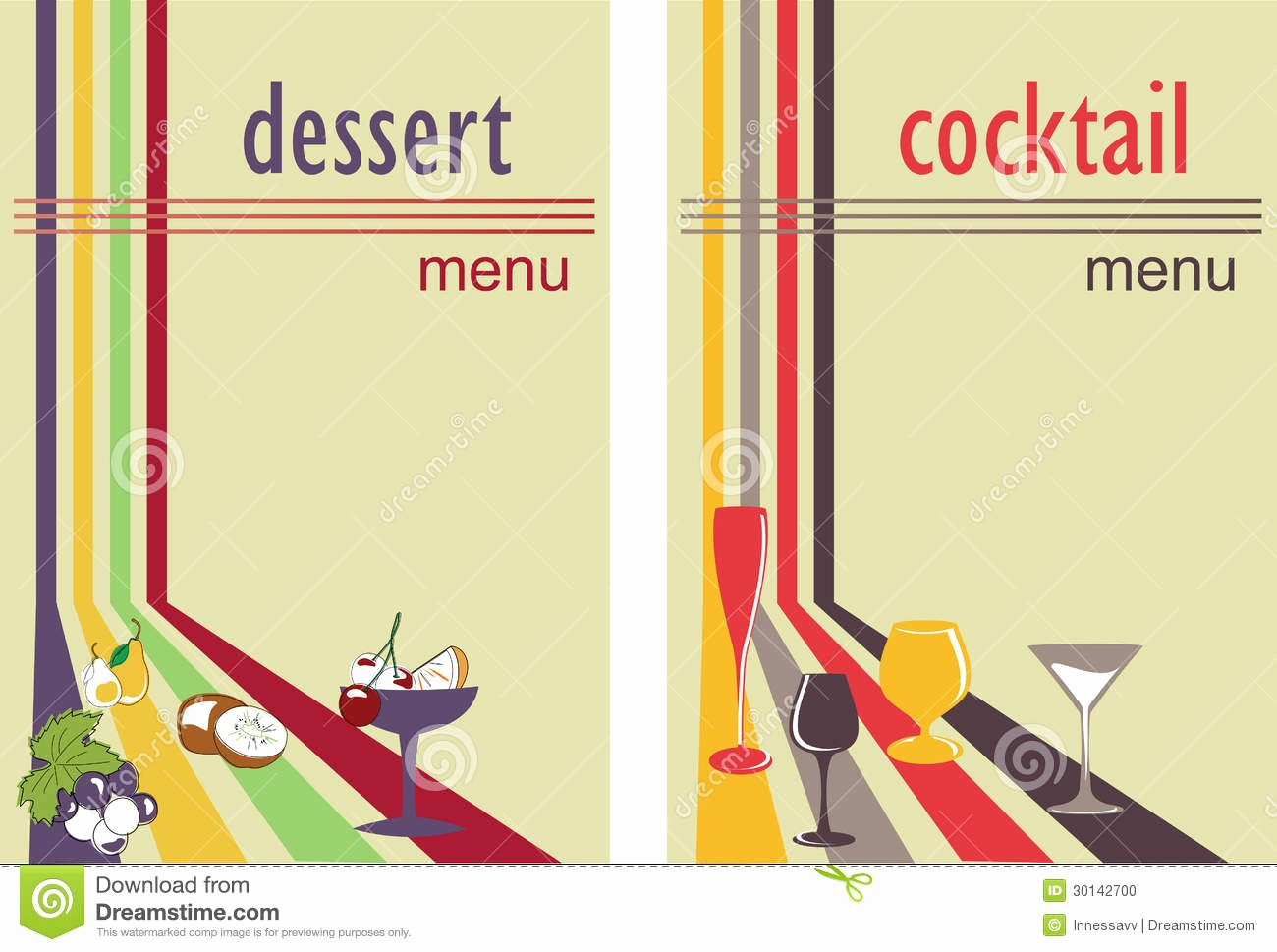 Cocktail Menu Template Free New Dessert and Cocktail Menu Stock Vector Illustration Of