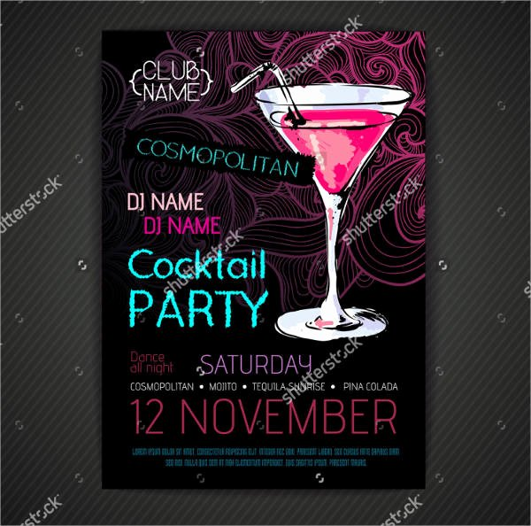 Cocktail Party Invitation Template Awesome 45 Printable Party Invitation Templates Psd Ai