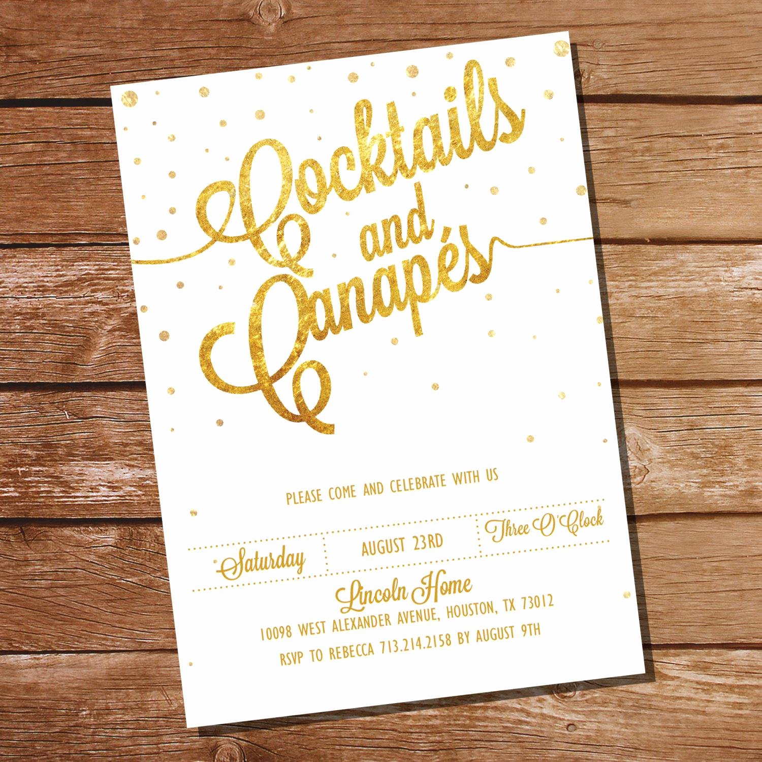 Cocktail Party Invitation Template Beautiful Cocktail Party Invitations