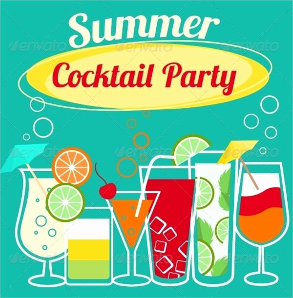 Cocktail Party Invitation Template Fresh 18 Summer Party Invitations Psd Ai Eps