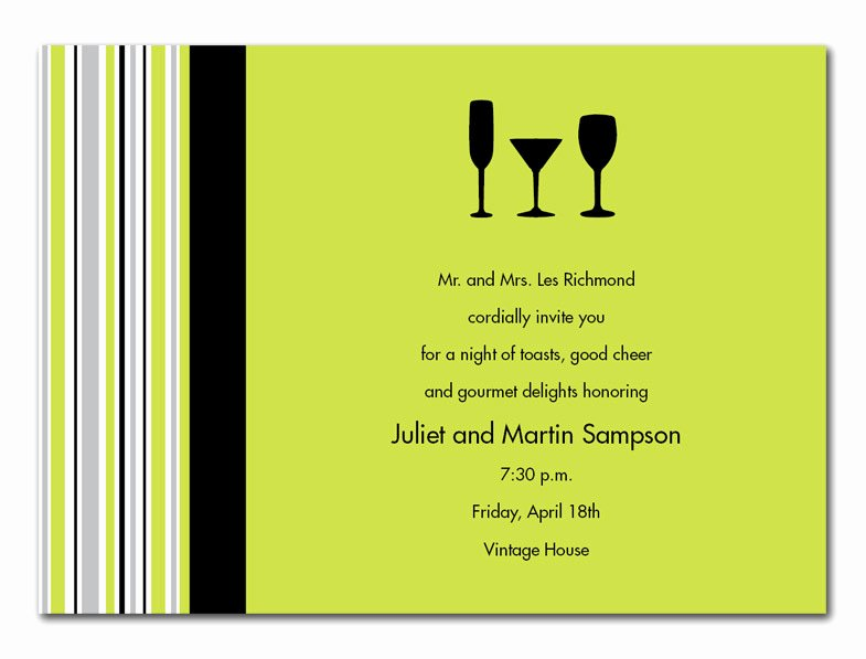 Cocktail Party Invitation Template Fresh Cocktail Dinner Invitation Template Templates Resume