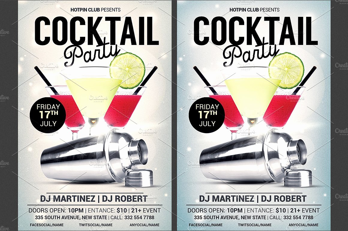 Cocktail Party Invitation Template Fresh Cocktail Party Flyer Template Flyer Templates Creative