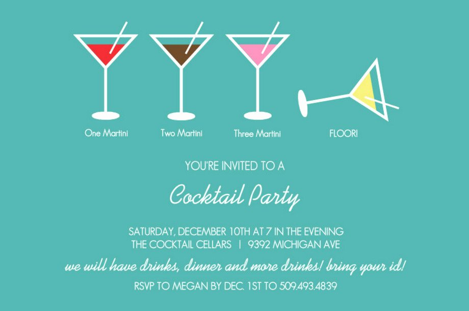 Cocktail Party Invitation Template Fresh Create Cocktail Party Invitation