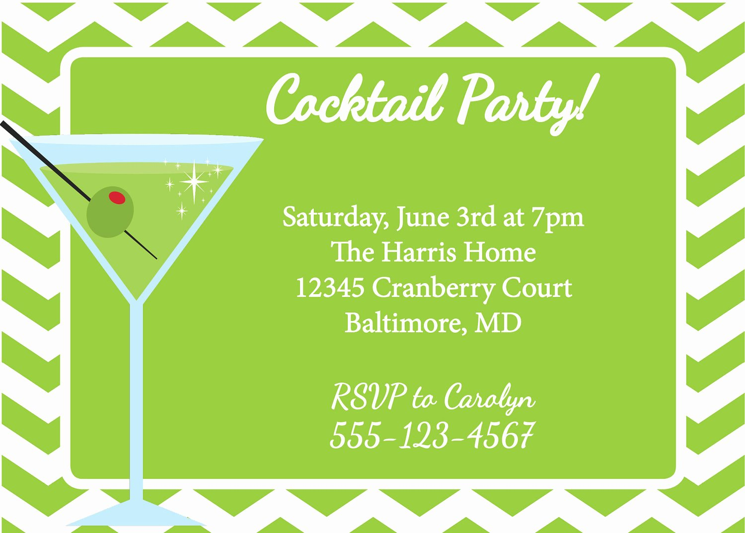 Cocktail Party Invitation Template New Cocktail Party Invite Templates