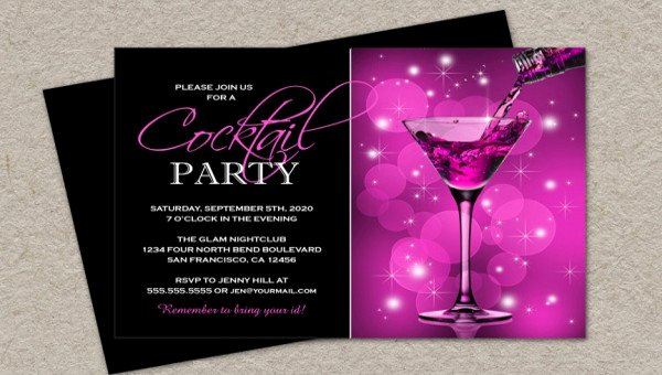 Cocktail Party Invitation Template Unique 21 Cocktail Party Invitations Psd Vector Eps Jpg